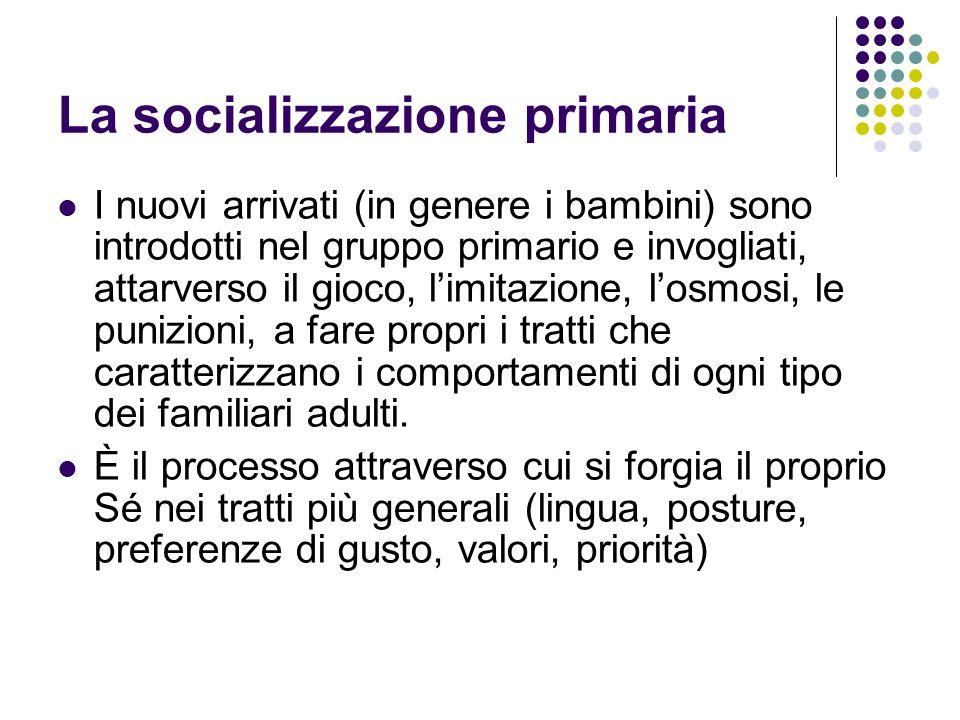 I gruppi secondari e la socializzazione secondaria Il loro sviluppo caratterizza la modernità.