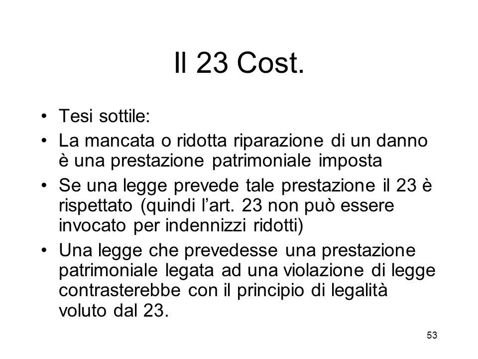 53 Il 23 Cost.