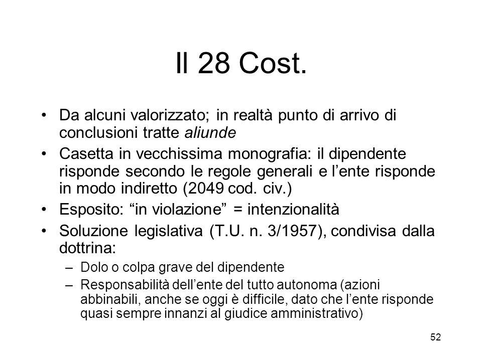 52 Il 28 Cost.