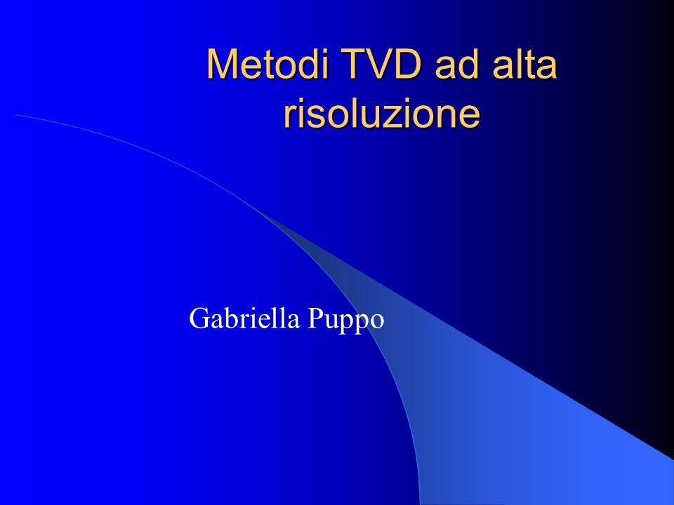 Metodi TVD ad alta risoluzione Gabriella Puppo