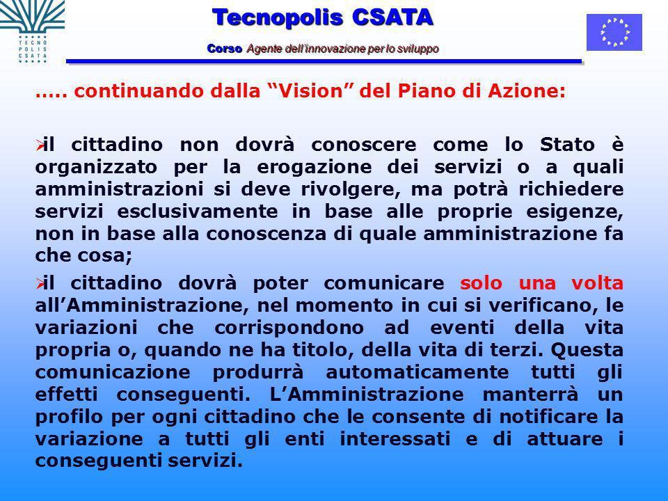 Tecnopolis CSATA Corso Agente dellinnovazione per lo sviluppo …..