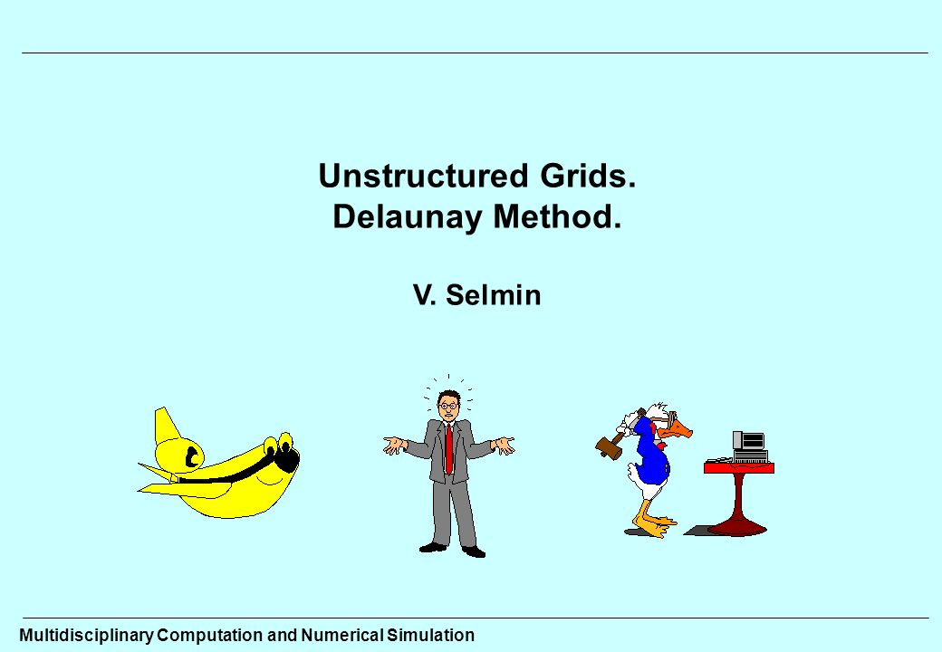 Unstructured Grids. Delaunay Method. V. Selmin Multidisciplinary Computation and Numerical Simulation