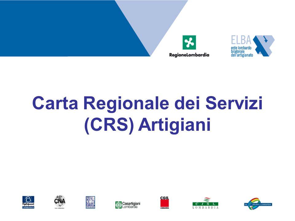 Carta Regionale dei Servizi (CRS) Artigiani