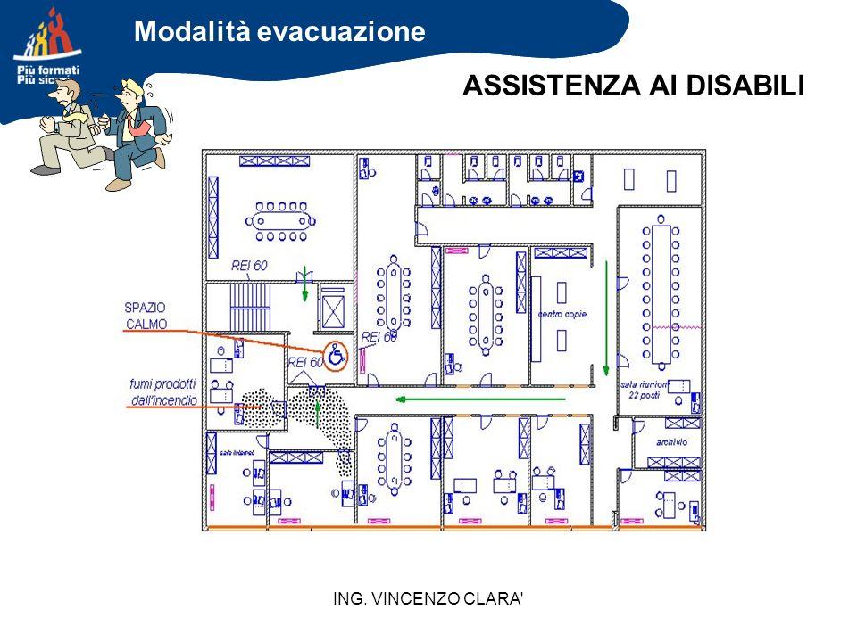 ING. VINCENZO CLARA' ASSISTENZA AI DISABILI Modalità evacuazione
