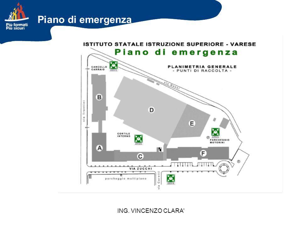 ING. VINCENZO CLARA' Piano di emergenza
