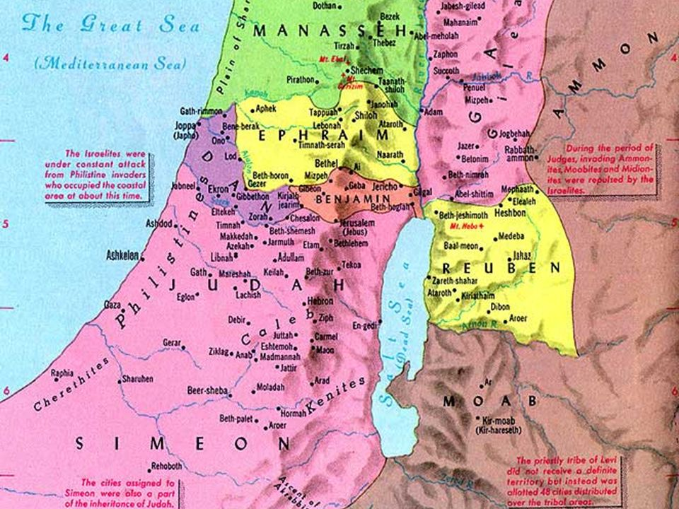 7 Land allotted to tribes of Israel