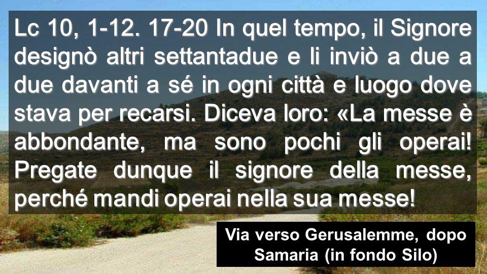 EI settantadue tornarono pieni di gioia, dicendo: «Signore, anche i demòni si sottomettono a noi nel tuo nome».