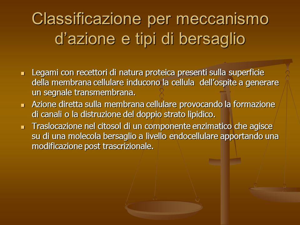 Lattività delle esotossine può intervenire a livelli differenti Clostrdium perfringens Clostrdium perfringens Enterotossica Citossica Bacillus cereus Bacillus cereus Emolitica Emolitica Citossica Citossica Dermonecrotizzazione Dermonecrotizzazione