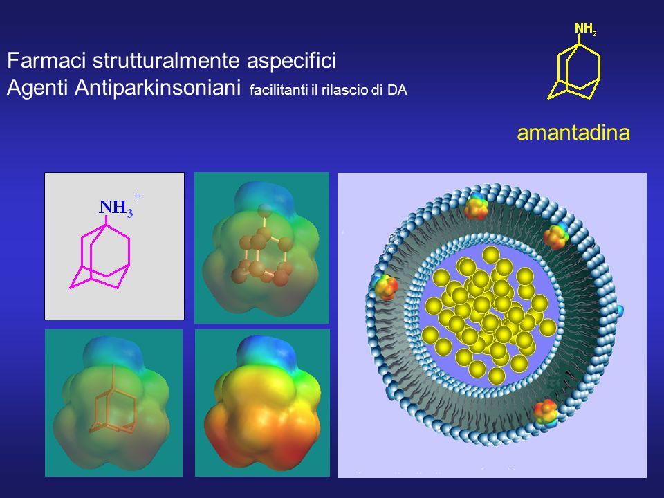 Farmaci strutturalmente aspecifici Agenti Antiparkinsoniani facilitanti il rilascio di DA amantadina