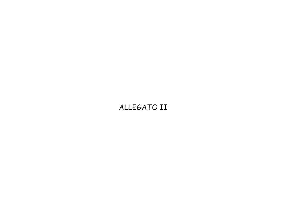 ALLEGATO II