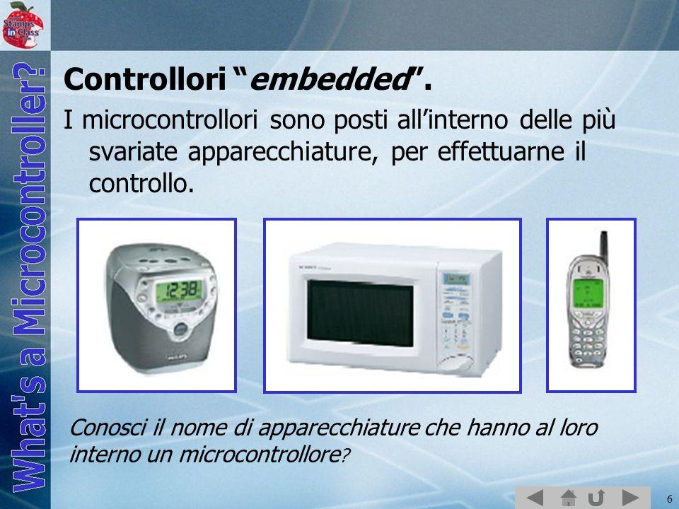17 BASIC Stamp Editor I sistemi enbedded sono formati da: Hardware - Componenti di controllo e di test.