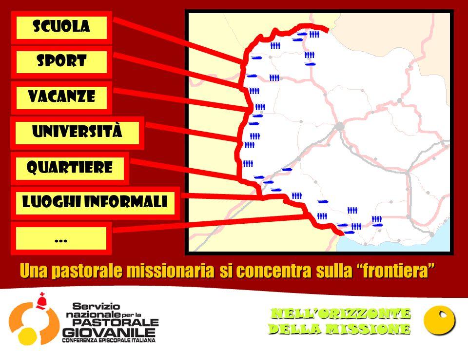 Una pastorale missionaria si concentra sulla frontiera SCUOLA SPORT vacanze universitÀ quartiere Luoghi informali … 0 NELLORIZZONTE DELLA MISSIONE
