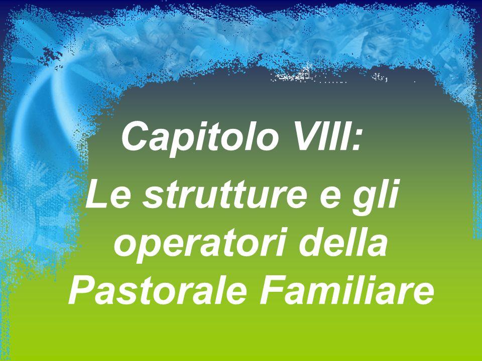 Capitolo VIII: Le strutture e gli operatori della Pastorale Familiare