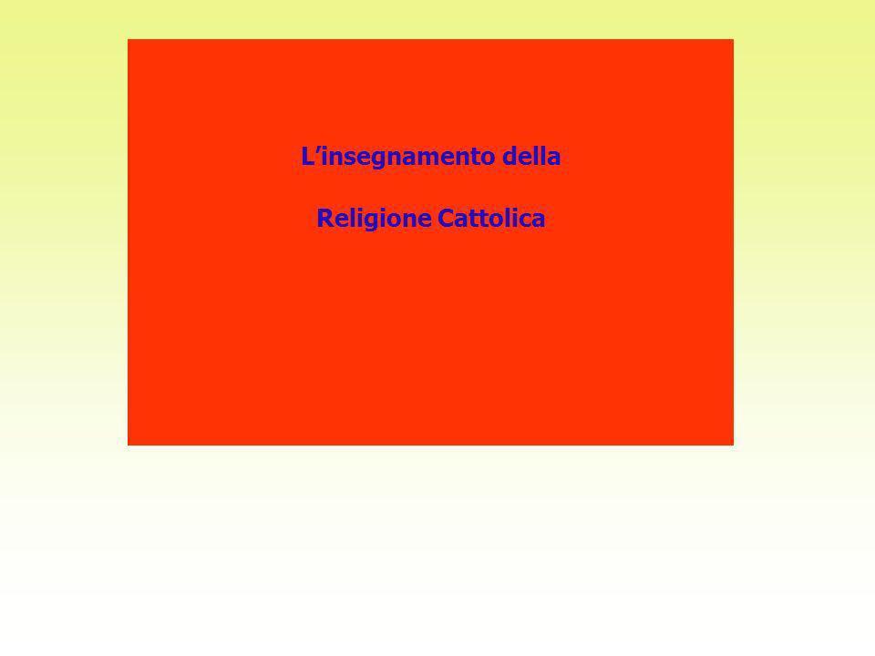 Linsegnamento della Religione Cattolica