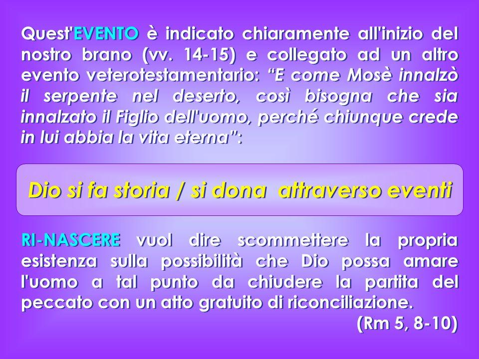 Quest'EVENTO è indicato chiaramente all'inizio del nostro brano (vv. 14-15) e collegato ad un altro evento veterotestamentario: E come Mosè innalzò il