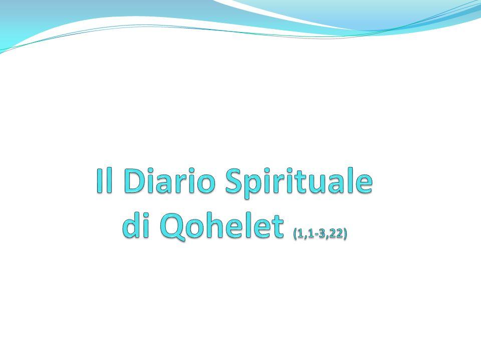 La maschera iniziale 1, 1 «Parole di Qohelet, figlio di Davide, re in Gerusalemme»