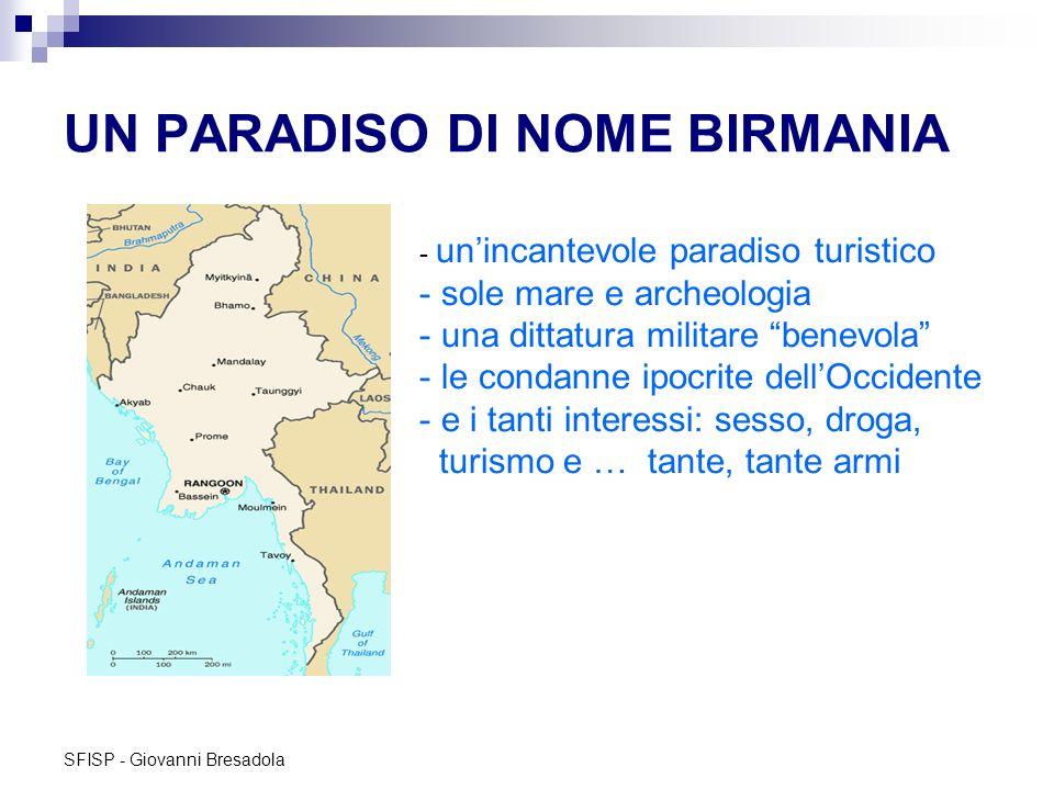 SFISP - Giovanni Bresadola UN PARADISO DI NOME BIRMANIA - unincantevole paradiso turistico - sole mare e archeologia - una dittatura militare benevola