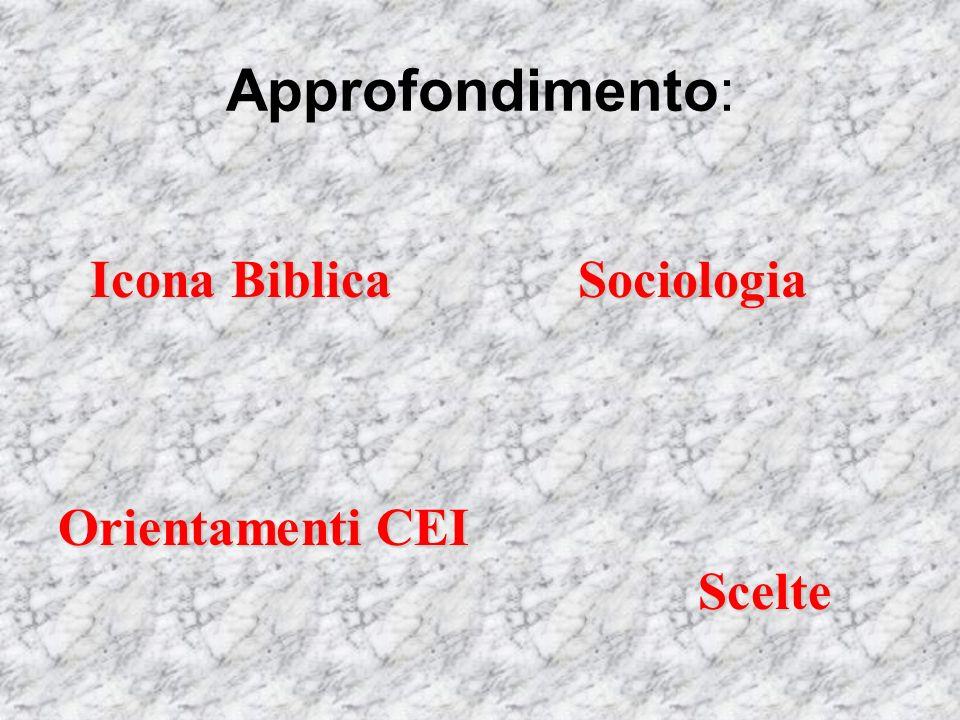 Approfondimento: Icona Biblica Scelte OrientamentiCEI Orientamenti CEI Sociologia