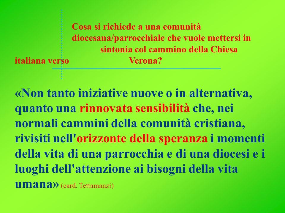 Cosa si richiede a una comunità diocesana/parrocchiale che vuole mettersi in sintonia col cammino della Chiesa italiana verso Verona? «Non tanto inizi