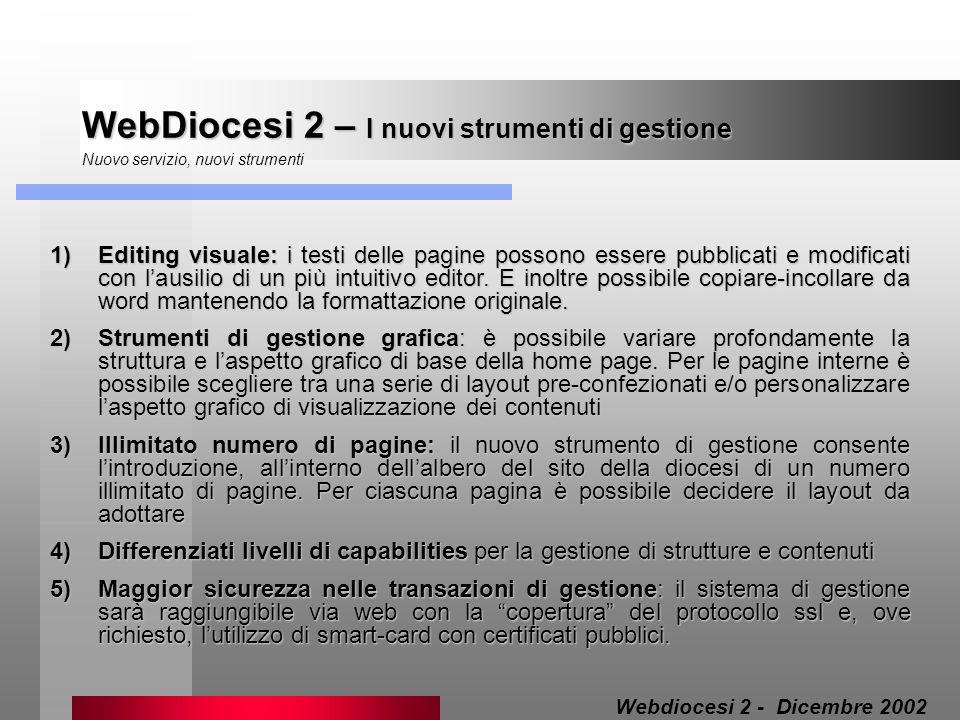 WebDiocesi 2 – Sist.