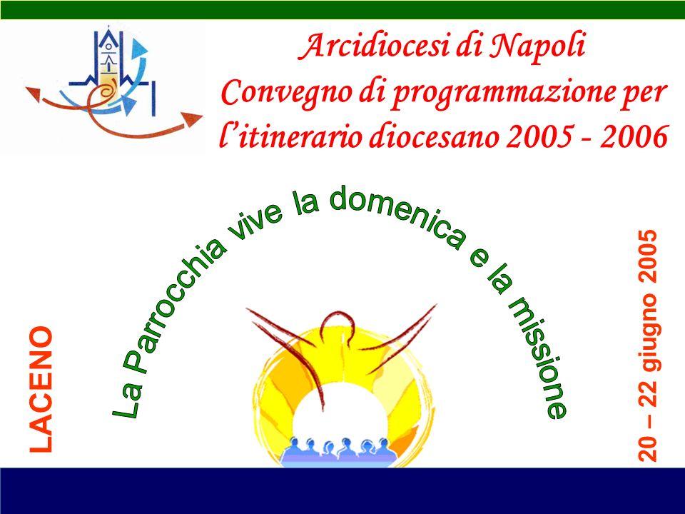 Arcidiocesi di Napoli Convegno di programmazione per litinerario diocesano 2005 - 2006 20 – 22 giugno 2005 LACENO
