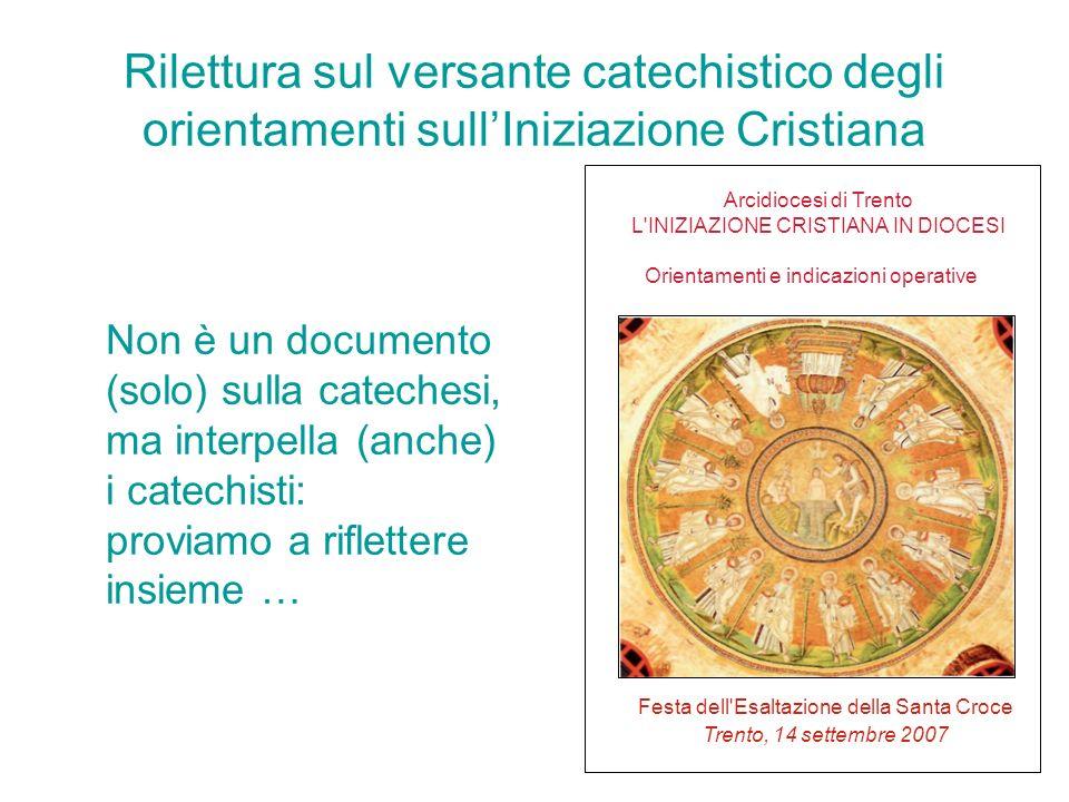 ARCIDIOCESI DI TRENTO Ufficio Catechistico IL RINNOVAMENTO DELLA CATECHESI NELLA DIOCESI DI TRENTO don giorgio ronzoni