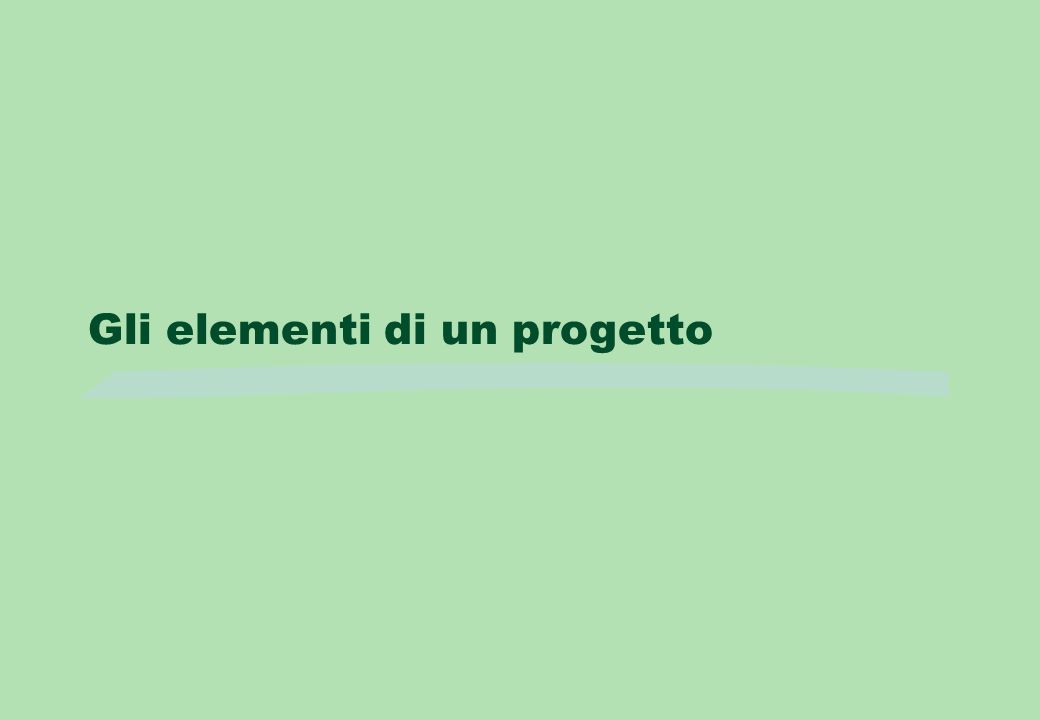 Gli elementi di un progetto