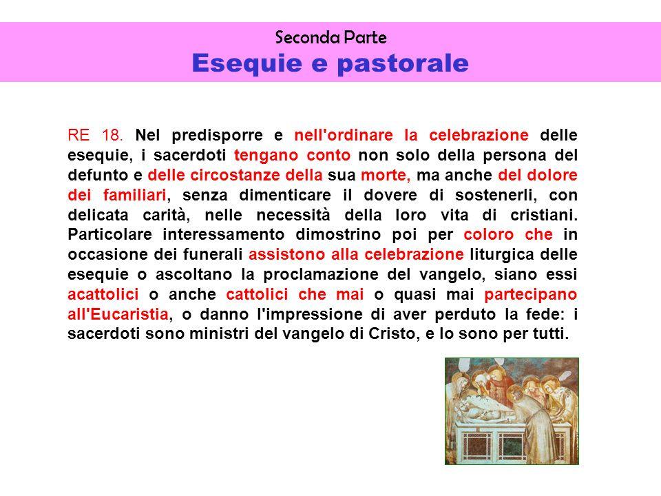 Seconda Parte Esequie e pastorale RE 18.