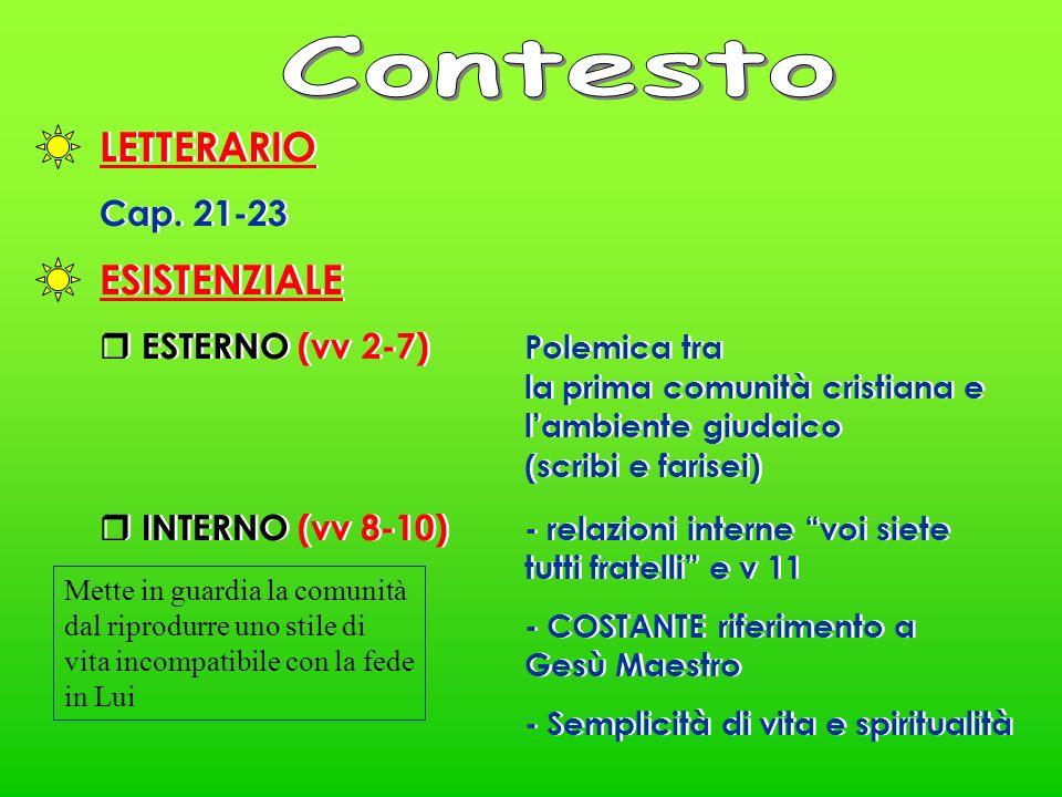 LETTERARIO Cap. 21-23 LETTERARIO Cap.
