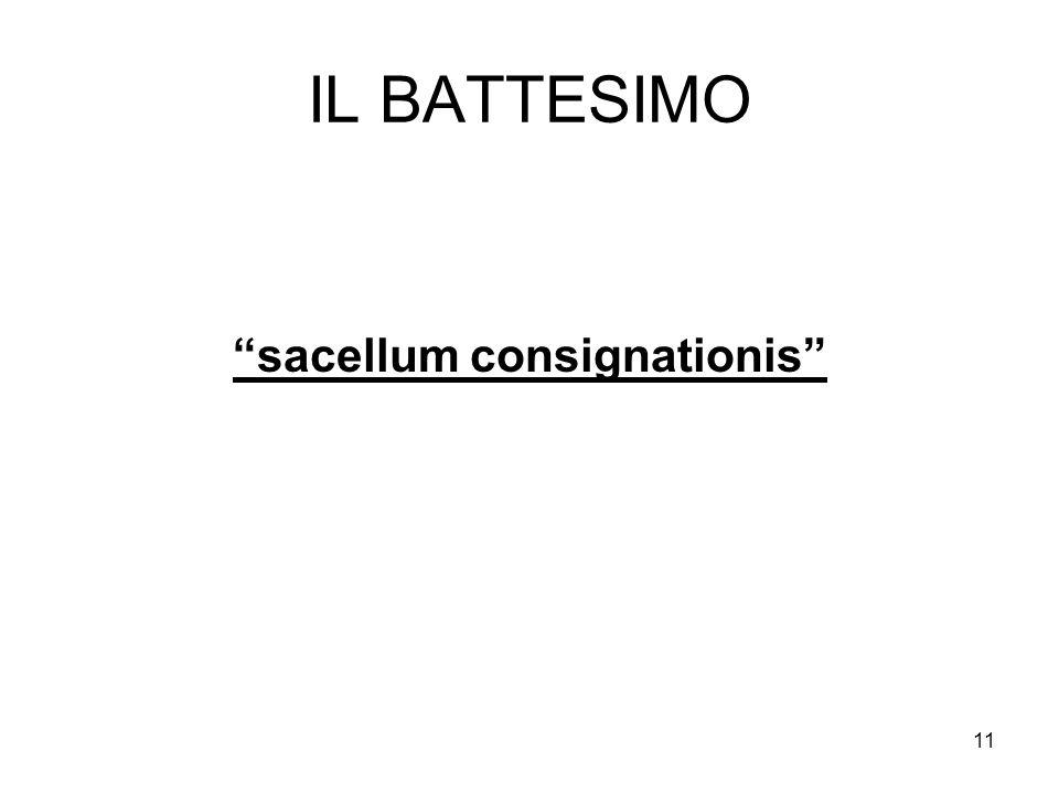 11 IL BATTESIMO sacellum consignationis