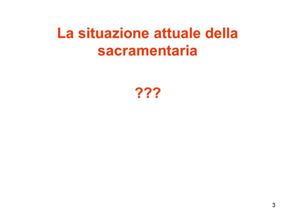 3 La situazione attuale della sacramentaria ???