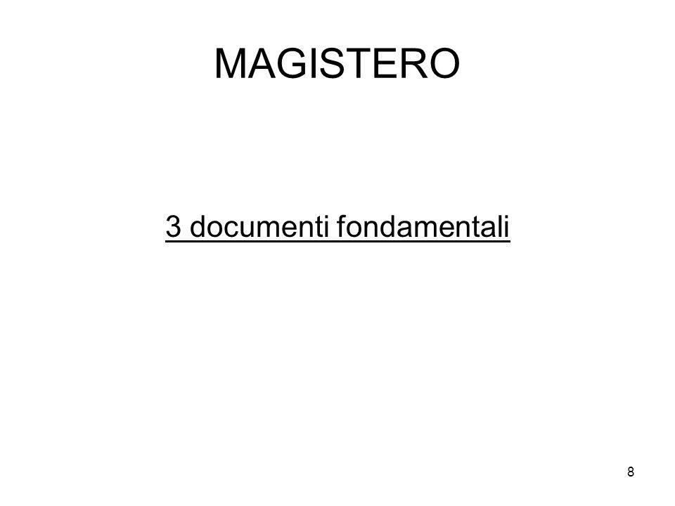 8 MAGISTERO 3 documenti fondamentali