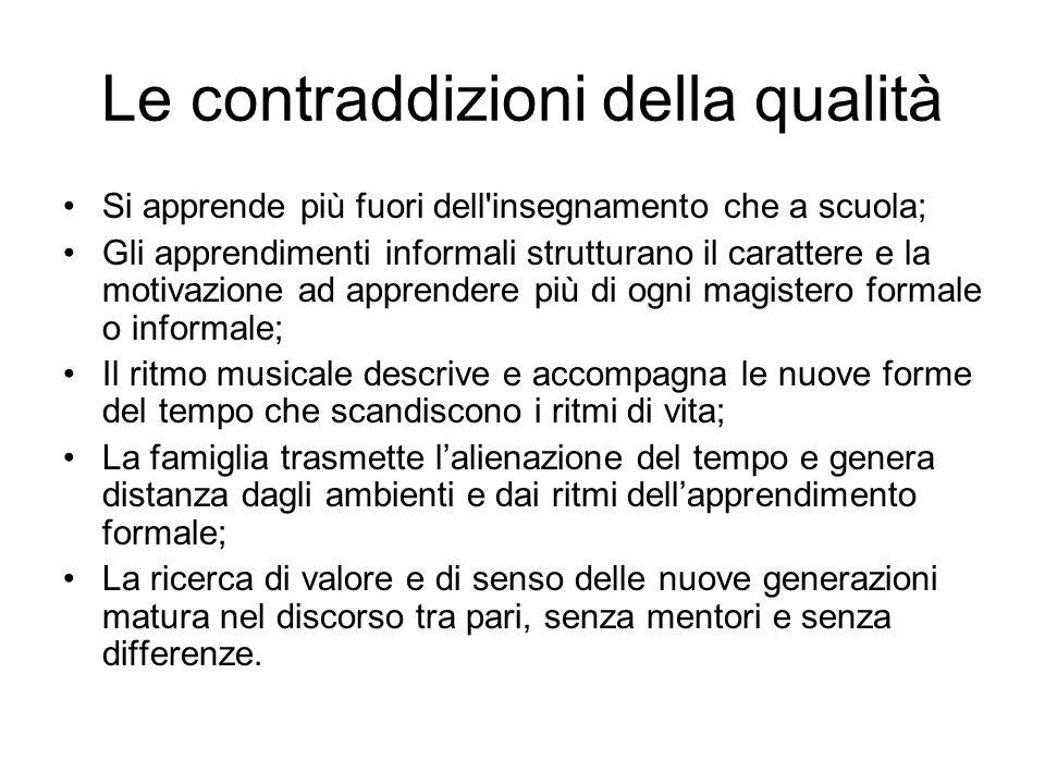 Le contraddizioni della qualità Giovani e famiglia/1 Giovani e famiglia: una alleanza che regge.
