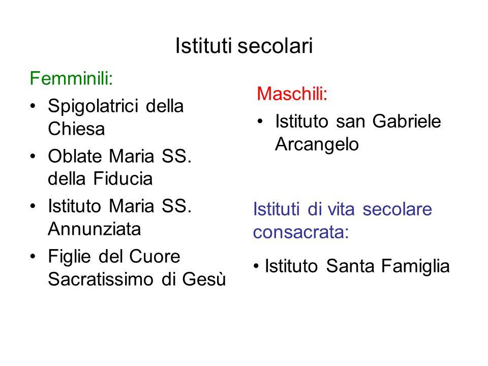 Istituti secolari Femminili: Spigolatrici della Chiesa Oblate Maria SS.
