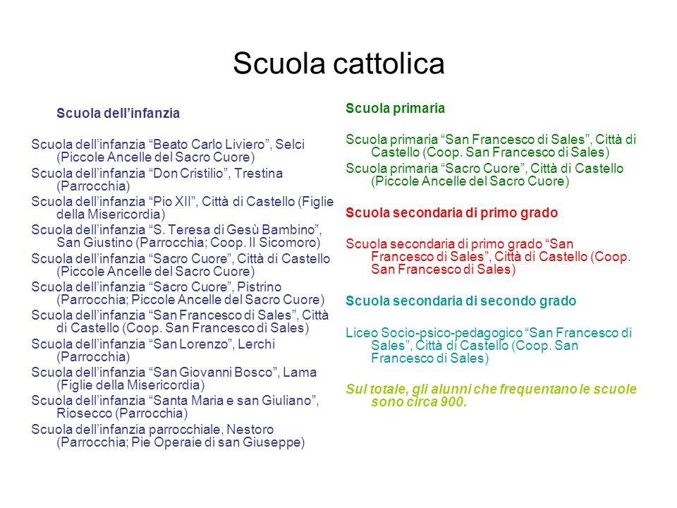 Scuola cattolica Scuola dellinfanzia Scuola dellinfanzia Beato Carlo Liviero, Selci (Piccole Ancelle del Sacro Cuore) Scuola dellinfanzia Don Cristili