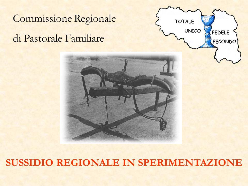 Commissione Regionale di Pastorale Familiare SUSSIDIO REGIONALE IN SPERIMENTAZIONE