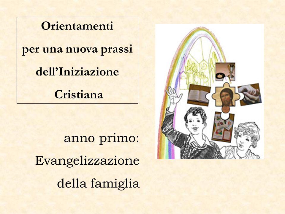 Orientamenti per una nuova prassi dellIniziazione Cristiana anno primo: Evangelizzazione della famiglia