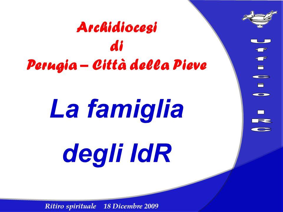 Ritiro spirituale 18 Dicembre 2009 Archidiocesi di Perugia – Città della Pieve La famiglia degli IdR