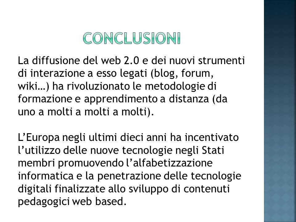 La diffusione del web 2.0 e dei nuovi strumenti di interazione a esso legati (blog, forum, wiki…) ha rivoluzionato le metodologie di formazione e appr