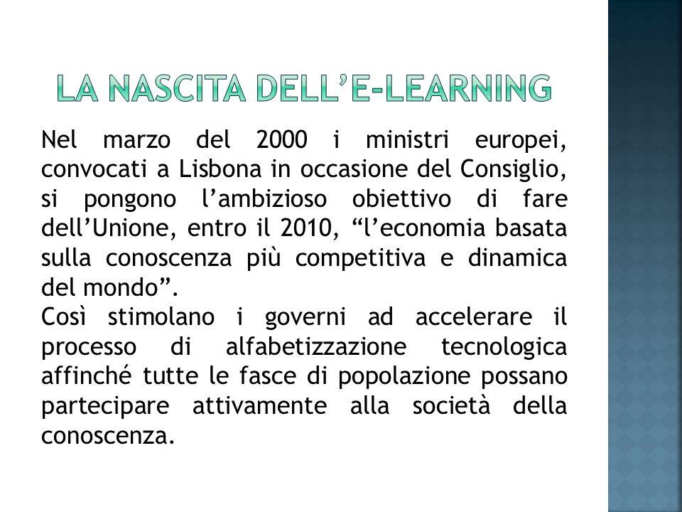 Le-learning, viste le sue caratteristiche di flessibilità, diventa lo strumento privilegiato su cui investire.