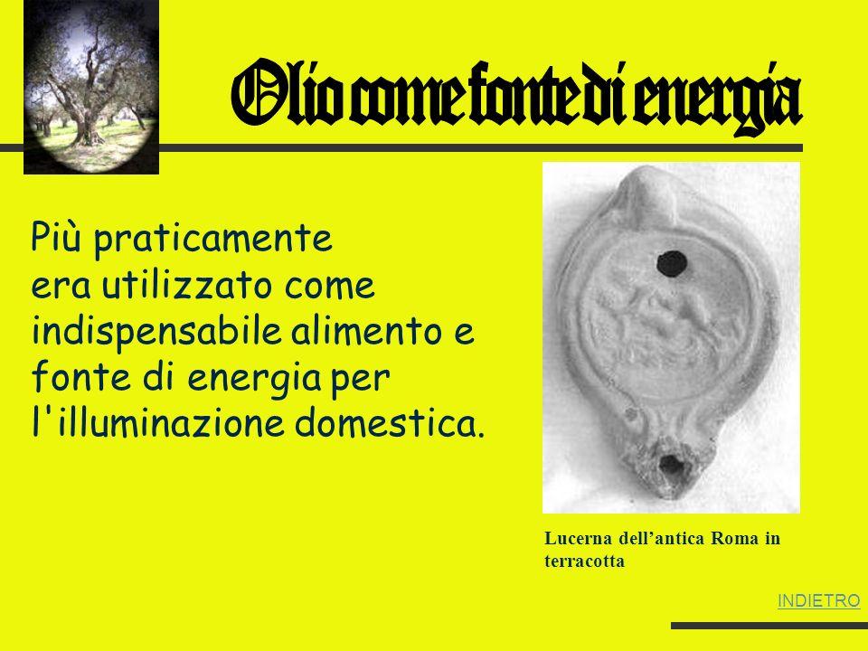 L olio fu adottato come simbolo purificatore in tutti i popoli mediterranei e, successivamente, in quelli di religione cristiana.