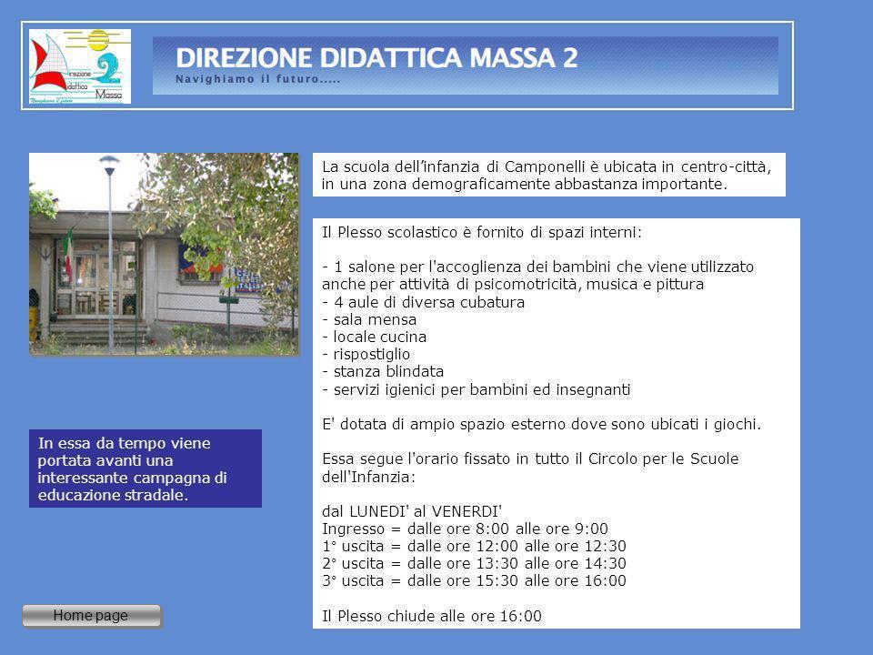 Home page La scuola dellinfanzia di Camponelli è ubicata in centro-città, in una zona demograficamente abbastanza importante. In essa da tempo viene p