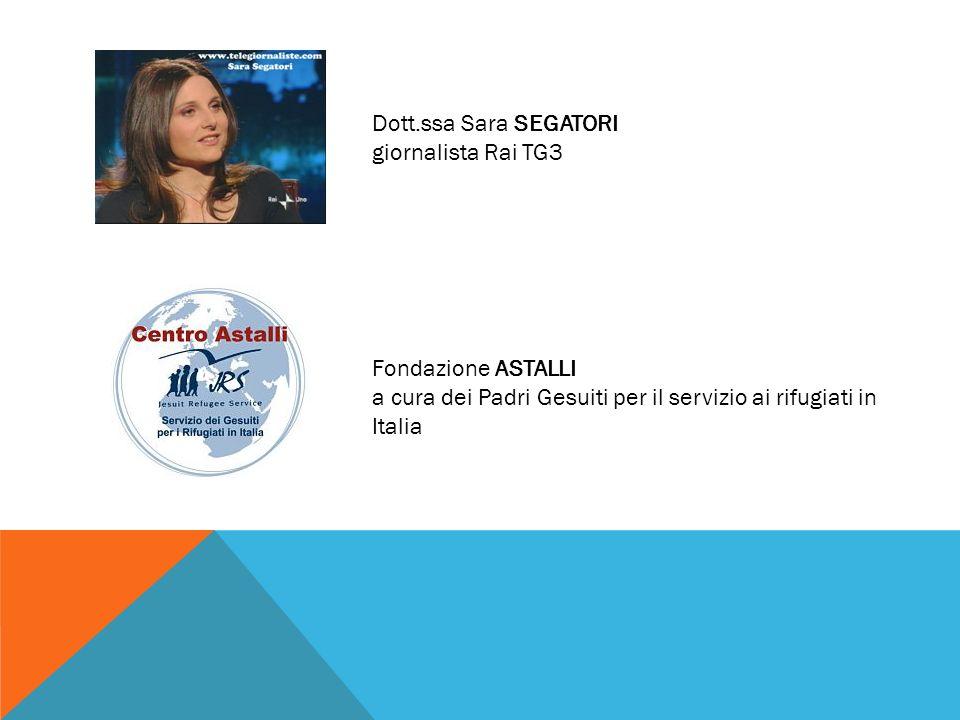 Dott.ssa Sara SEGATORI giornalista Rai TG3 Fondazione ASTALLI a cura dei Padri Gesuiti per il servizio ai rifugiati in Italia