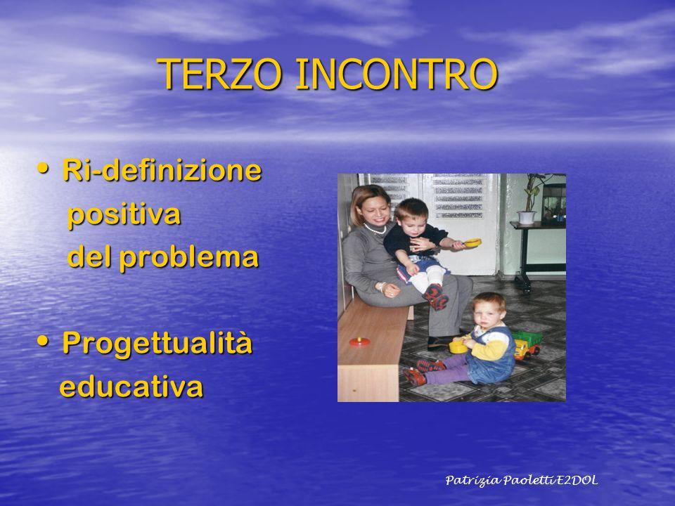 TERZO INCONTRO TERZO INCONTRO Ri-definizione Ri-definizione positiva positiva del problema del problema Progettualità Progettualità educativa educativ