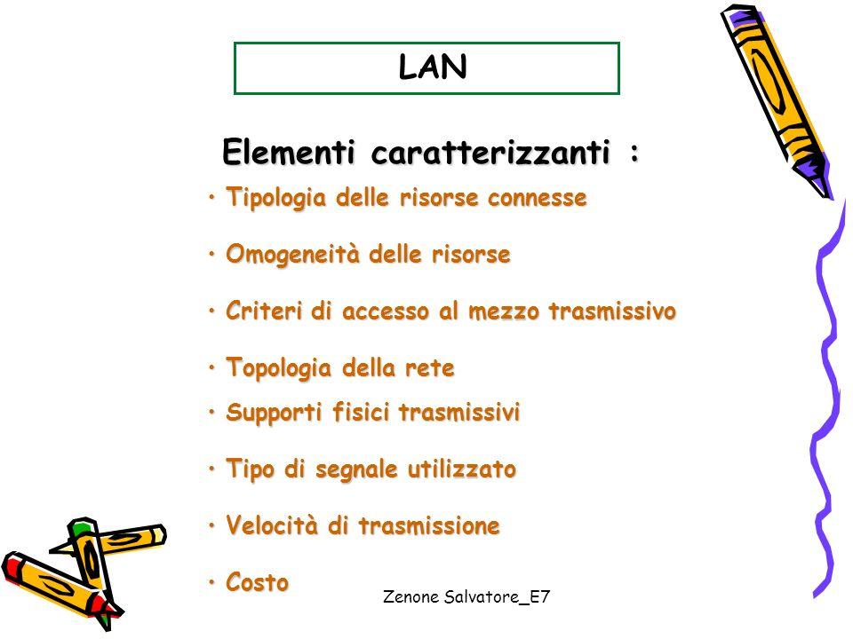 Zenone Salvatore_E7 Tipologia delle risorse connesse Tipologia delle risorse connesse Omogeneità delle risorse Omogeneità delle risorse Criteri di acc