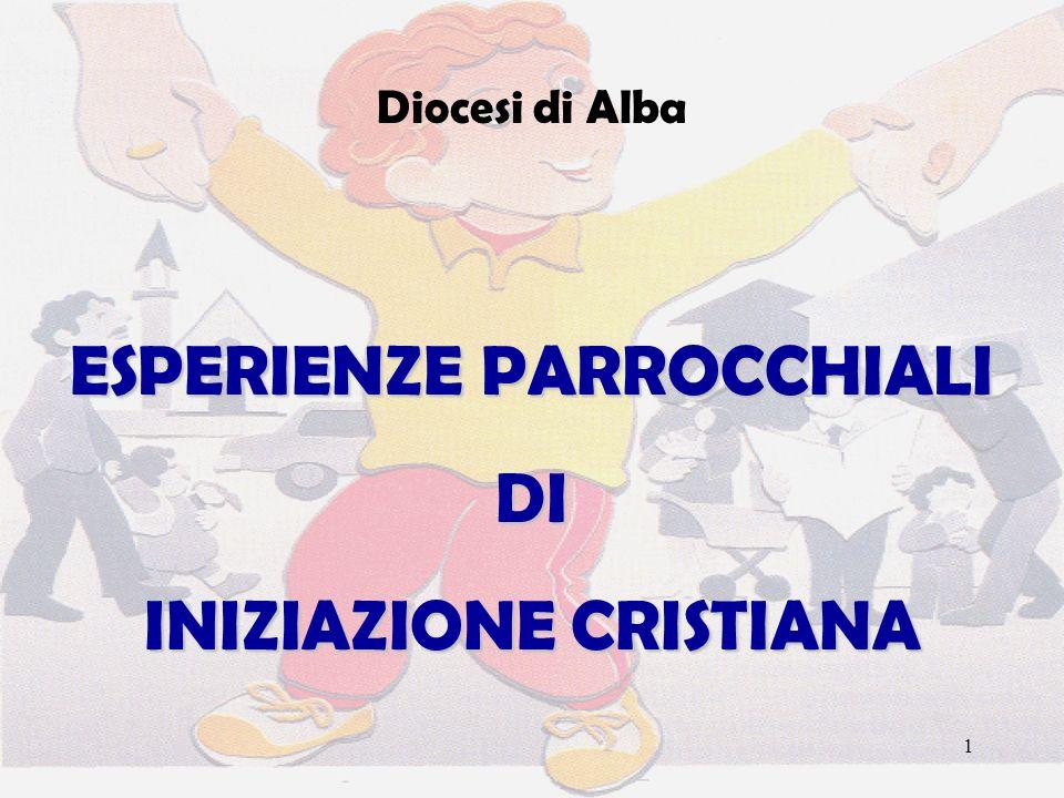 1 Diocesi di Alba ESPERIENZE PARROCCHIALI DI INIZIAZIONE CRISTIANA