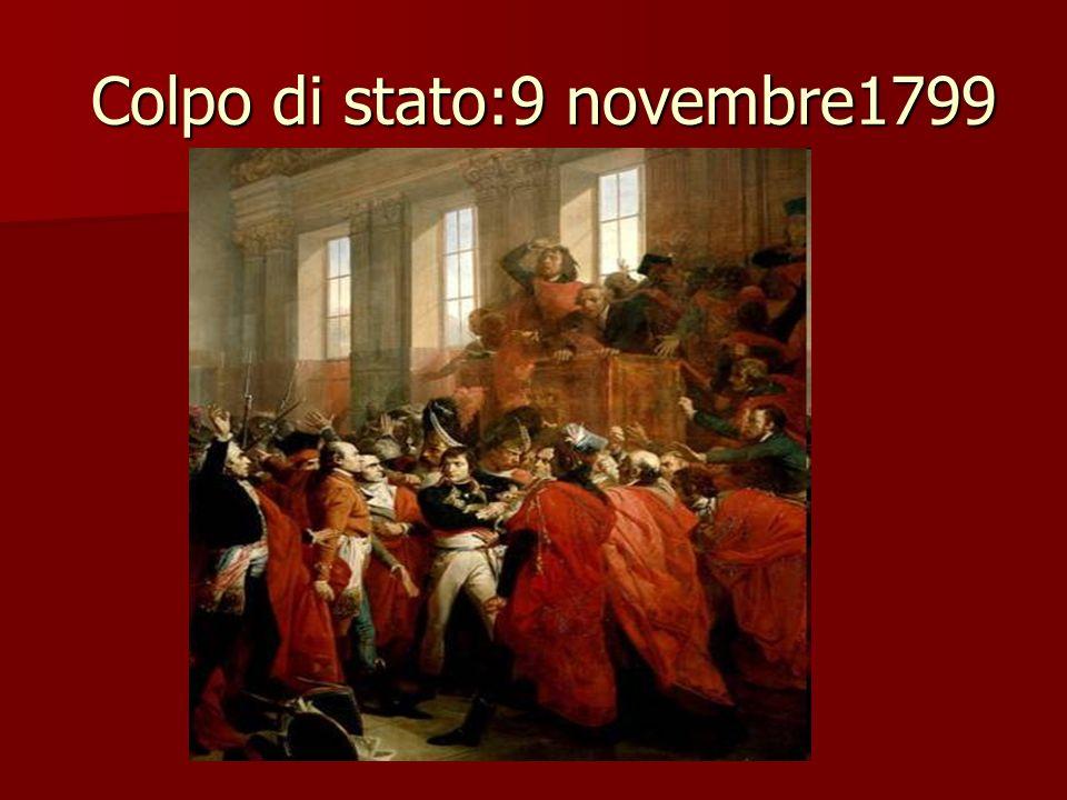 Colpo di stato:9 novembre1799 Colpo di stato:9 novembre1799