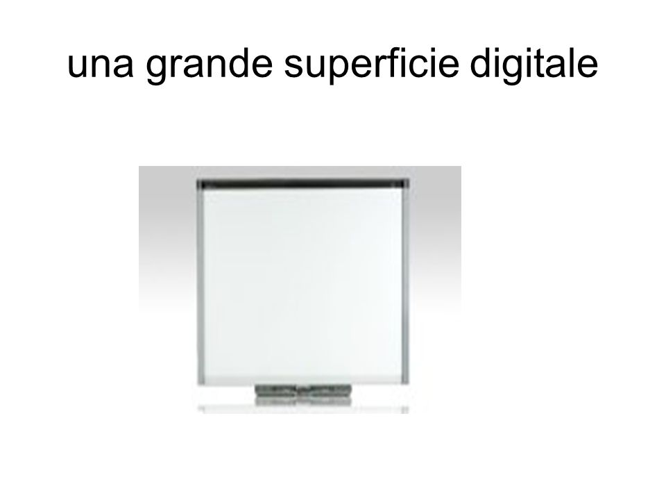 una grande superficie digitale
