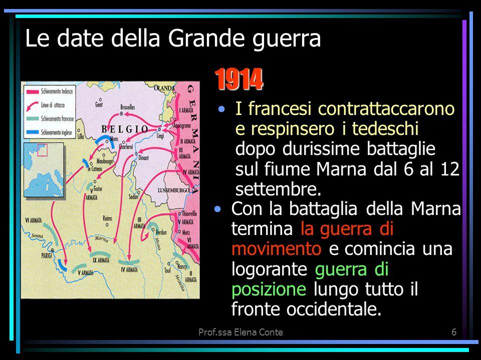 5 Le date della Grande guerra Le grandi potenze erano convinte che la guerra sarebbe durata solo qualche mese. la guerra di movimentoGli Stati Maggior