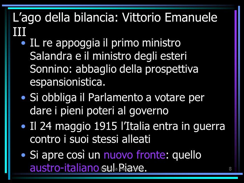 Prof.ssa Elena Conte7 Le date della Grande guerra 1915 LItalia corteggiata, che vuole conquistare le zone culturalmente italiane sotto il controllo au